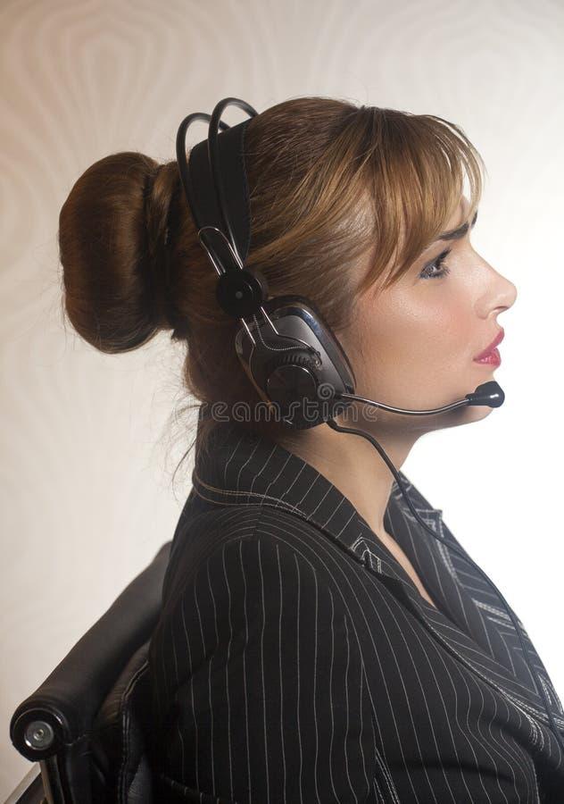 τηλεφωνική υποστήριξη χειριστών κασκών στοκ εικόνα με δικαίωμα ελεύθερης χρήσης