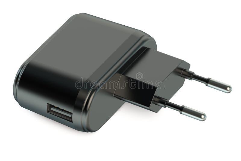 Τηλεφωνικός φορτιστής USB ελεύθερη απεικόνιση δικαιώματος