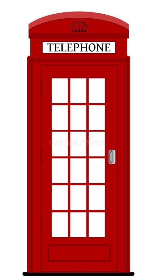 Τηλεφωνικό κιβώτιο του Λονδίνου διανυσματική απεικόνιση