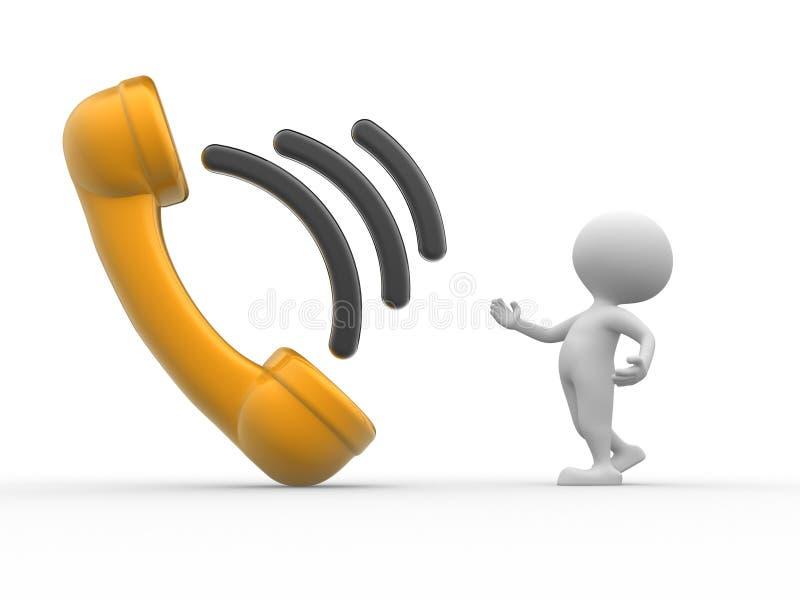 Τηλεφωνικό μικροτηλέφωνο ελεύθερη απεικόνιση δικαιώματος