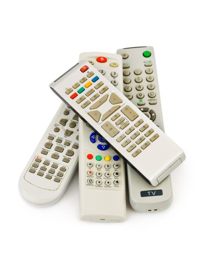Τηλεχειρισμοί TV στοκ φωτογραφία