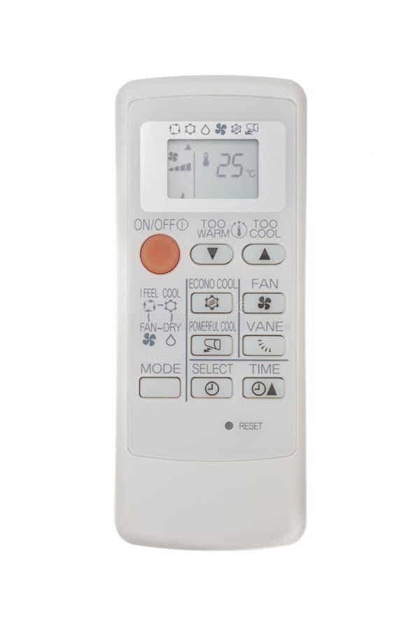 Τηλεχειρισμός κλιματιστικών μηχανημάτων που απομονώνεται στο άσπρο υπόβαθρο στοκ εικόνα