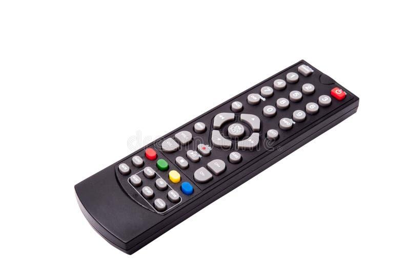 Τηλεχειρισμός TV που απομονώνεται στην άσπρη ανασκόπηση Με το ψαλίδισμα PA στοκ φωτογραφία με δικαίωμα ελεύθερης χρήσης