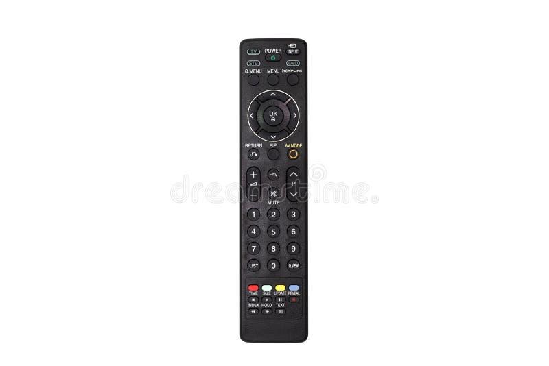 Τηλεχειρισμός TV που απομονώνεται στην άσπρη ανασκόπηση στοκ φωτογραφία