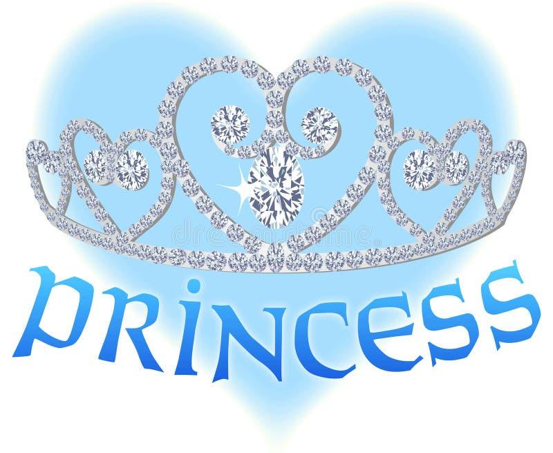 τιάρα πριγκηπισσών καρδιών απεικόνιση αποθεμάτων