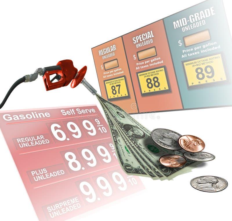 τιμές βενζίνης στοκ φωτογραφία
