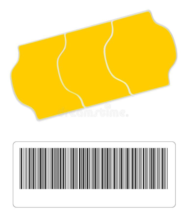 τιμή ετικετών γραμμωτών κωδ απεικόνιση αποθεμάτων