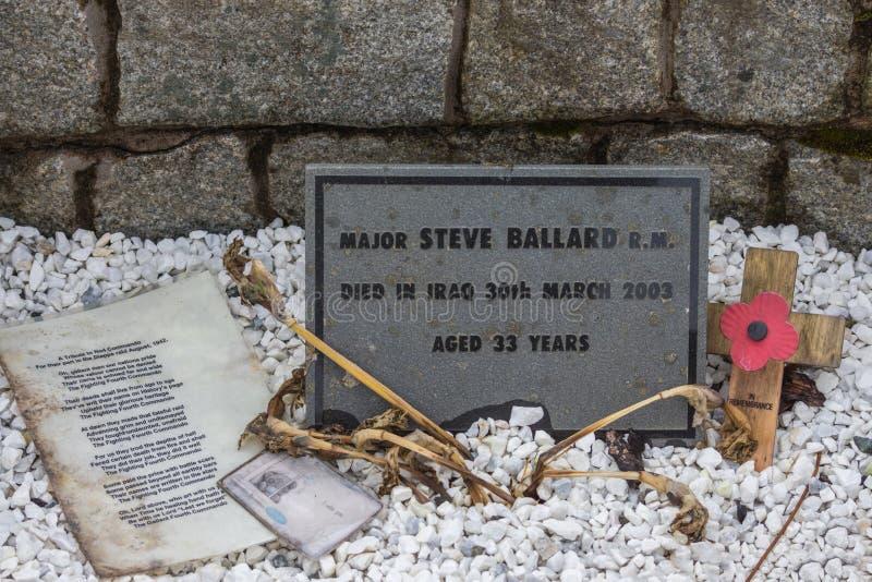 Τιμημένα αναμνηστικά αντικείμενα στο μνημείο καταδρομέα, Σκωτία στοκ εικόνες
