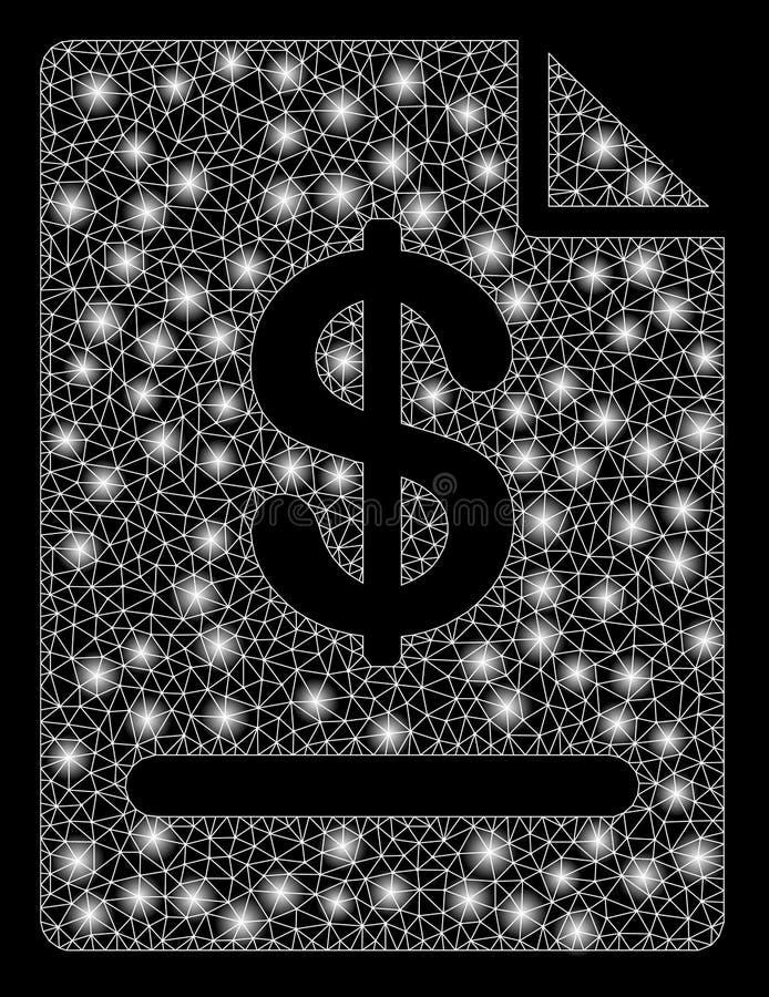 Τιμολόγιο πλαισίων καλωδίων πλέγματος φλογών με τα σημεία φλογών διανυσματική απεικόνιση