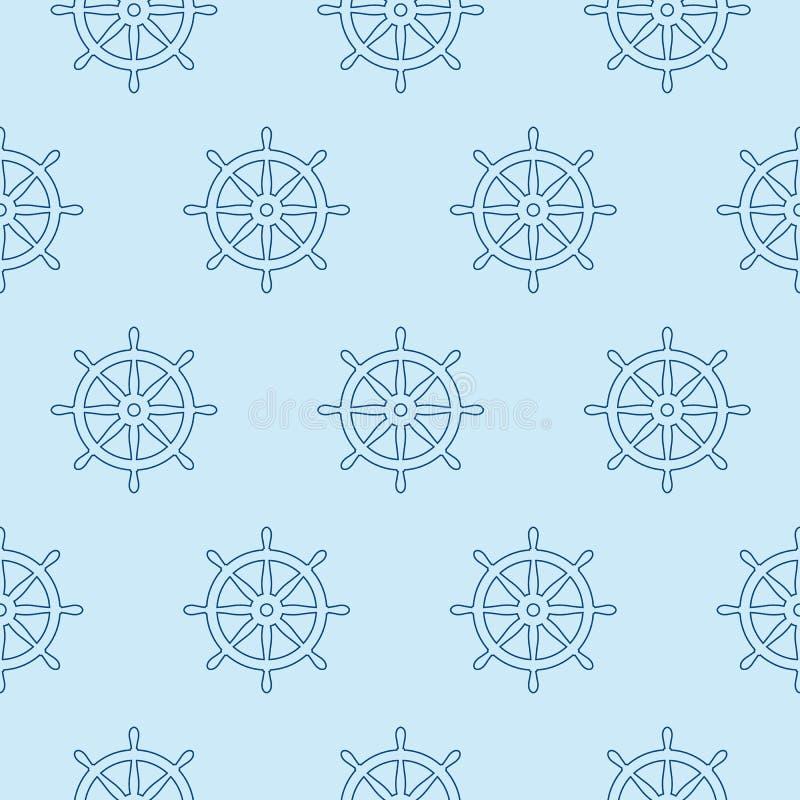Τιμονιών άνευ ραφής σχεδίων αγκύρων διανυσματικός πειρατών σκαφών ωκεανός θάλασσας βαρκών θαλάσσιος ναυτικός ελεύθερη απεικόνιση δικαιώματος