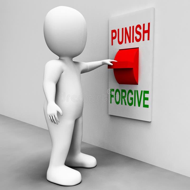 Τιμωρήστε συγχωρεί το διακόπτη παρουσιάζει τιμωρία ελεύθερη απεικόνιση δικαιώματος