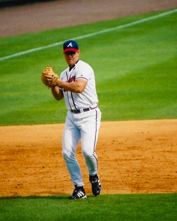 Τιμόνια Atlanta Braves Wes στοκ εικόνα
