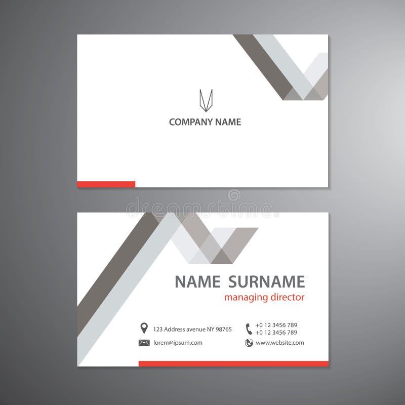 Τις άσπρες επαγγελματικές κάρτες καθορισμένες το διανυσματικό πρότυπο σχεδίου απεικόνιση αποθεμάτων