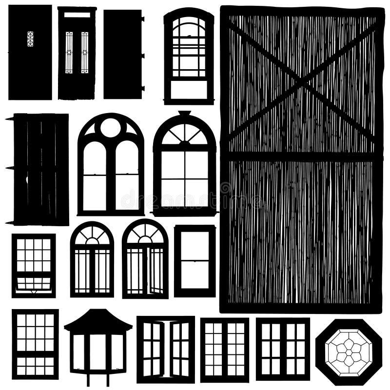 τις πόρτες που τίθενται τ&alp απεικόνιση αποθεμάτων