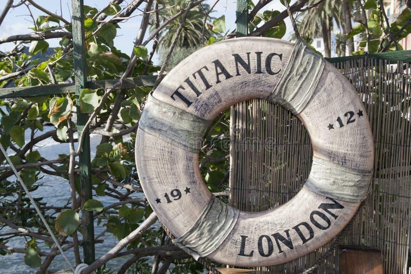 Τιτανικός σημαντήρας ζωής σκαφών στοκ εικόνα με δικαίωμα ελεύθερης χρήσης