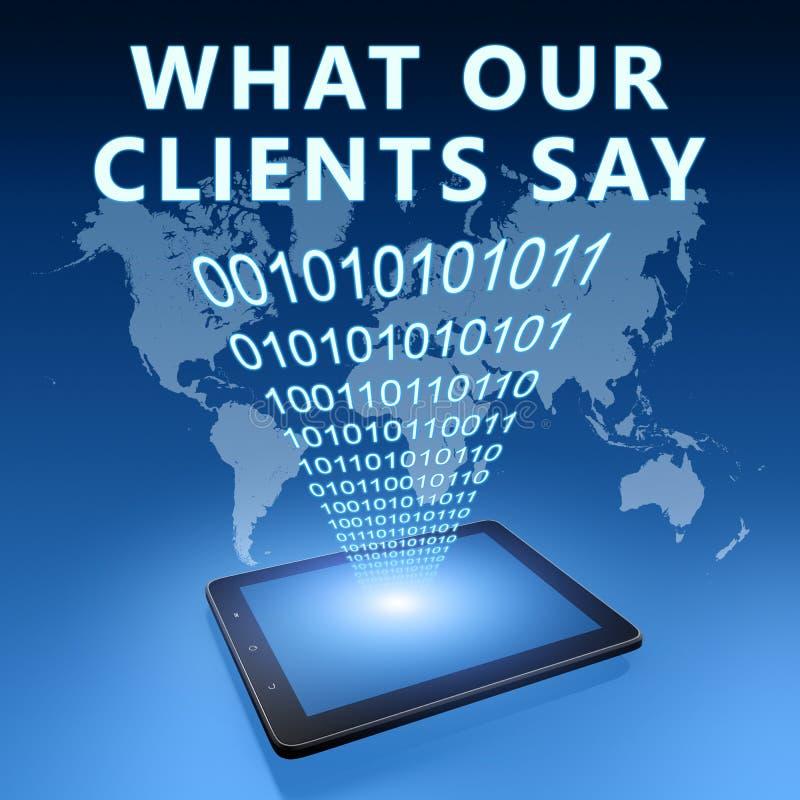 Τι οι πελάτες μας λένε ελεύθερη απεικόνιση δικαιώματος