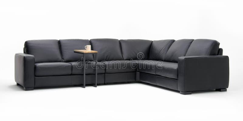 τμηματικός καναπές δέρματο στοκ εικόνες