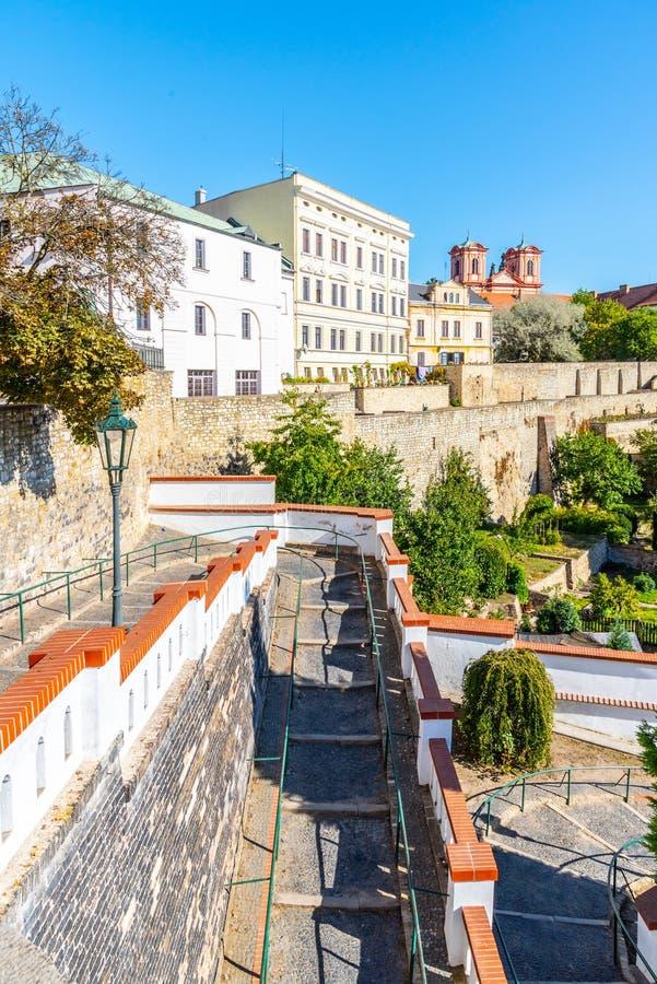 Τοίχοι οχυρώσεων και baileys στο ιστορικό κέντρο της πόλης Litomerice, Δημοκρατία της Τσεχίας στοκ εικόνες με δικαίωμα ελεύθερης χρήσης