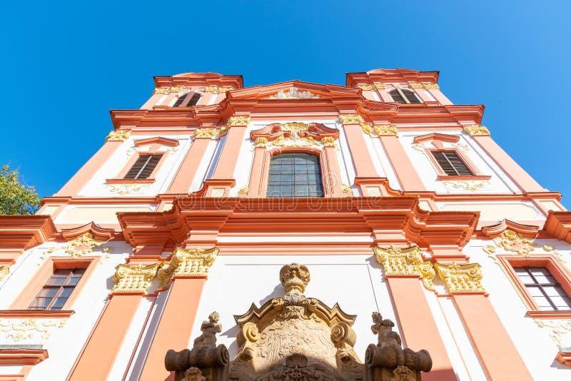 Τοίχοι οχυρώσεων και baileys στο ιστορικό κέντρο της πόλης Litomerice, Δημοκρατία της Τσεχίας στοκ εικόνες