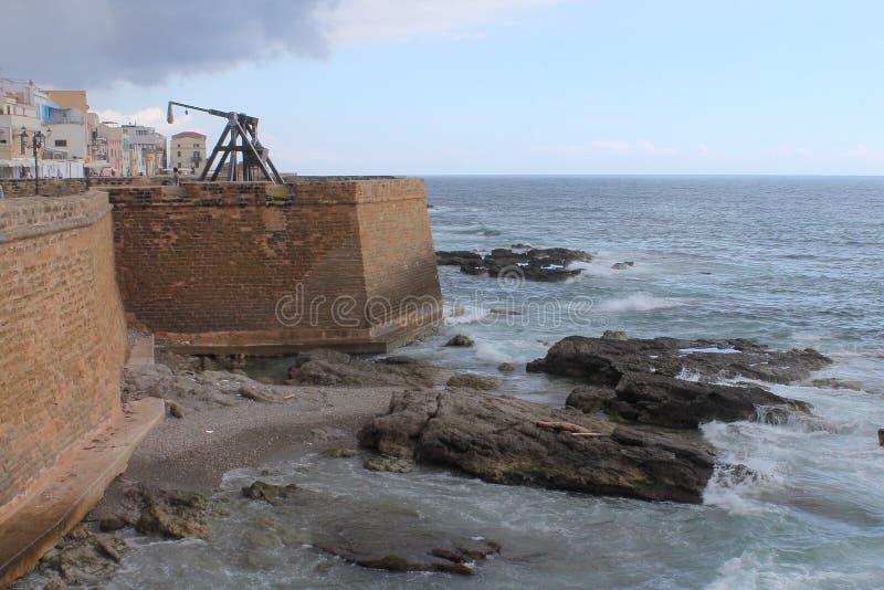 Τοίχοι πόλεων καταπελτών, Bastione και κορωνών Alghero Ιταλία Σαρδηνία στοκ φωτογραφία με δικαίωμα ελεύθερης χρήσης