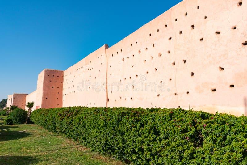 Τοίχοι πόλεων στο Μαρακές Μαρόκο στοκ φωτογραφία με δικαίωμα ελεύθερης χρήσης