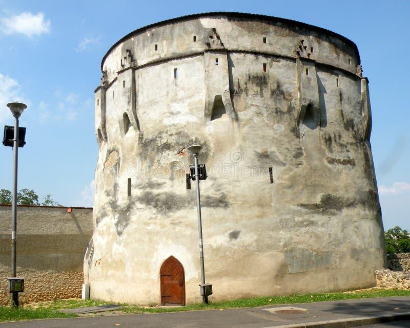 Τοίχοι της μεσαιωνικής πόλης Brasov (Kronstadt), Transilvania, Ρουμανία στοκ φωτογραφίες με δικαίωμα ελεύθερης χρήσης