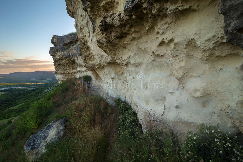 Τοίχοι της πόλης Bakla σπηλιών σε Bakhchysarai Raion, Κριμαία στοκ εικόνες με δικαίωμα ελεύθερης χρήσης