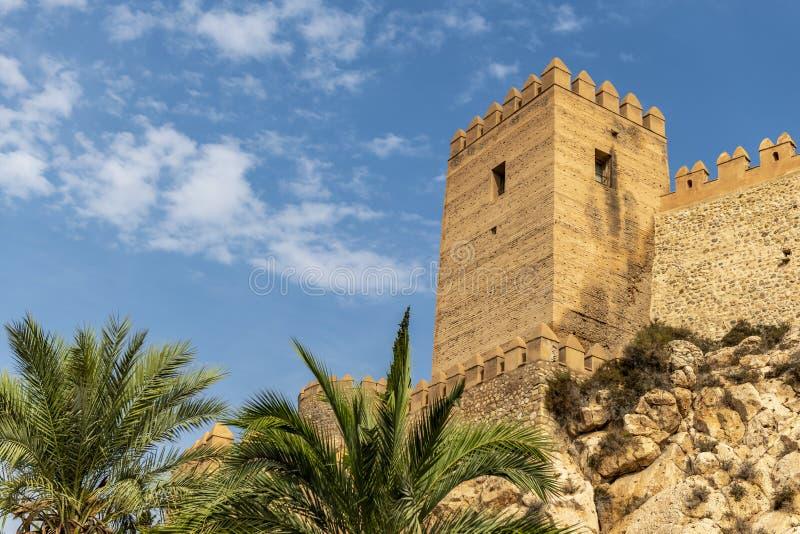 Τοίχοι του Alcazaba της Αλμερία στοκ φωτογραφία με δικαίωμα ελεύθερης χρήσης