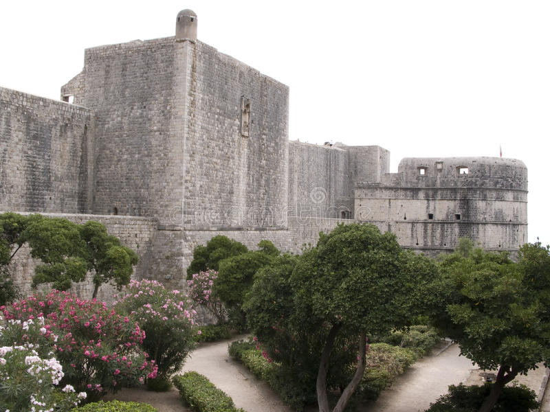 τοίχοι minceta φρουρίων πόλεων dubrov στοκ φωτογραφία