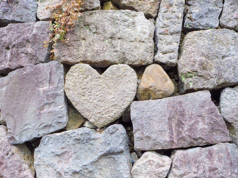 Τοίχος βράχου καρδιών στοκ εικόνες με δικαίωμα ελεύθερης χρήσης