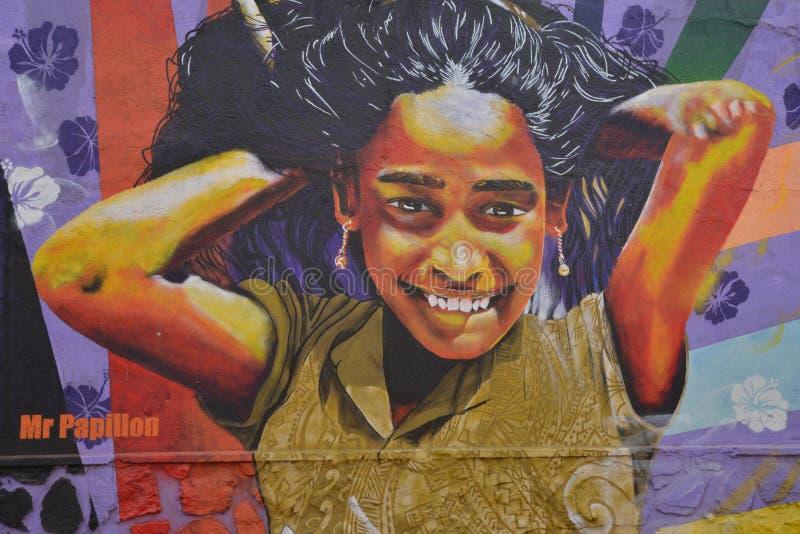 Τοίχος γκράφιτι σε Valparaiso, Χιλή στοκ εικόνες