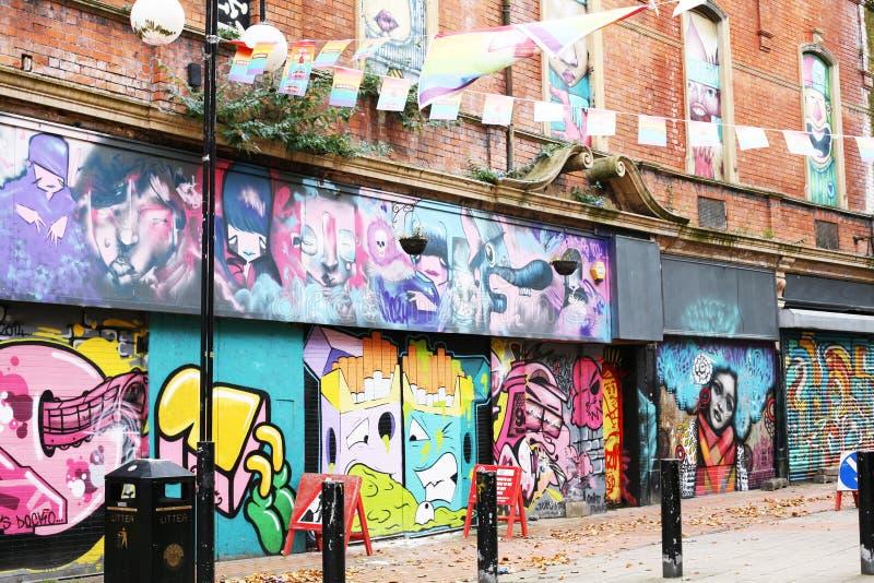 Τοίχος γκράφιτι στο κέντρο της πόλης Βόρεια Ιρλανδία του Μπέλφαστ στοκ εικόνα