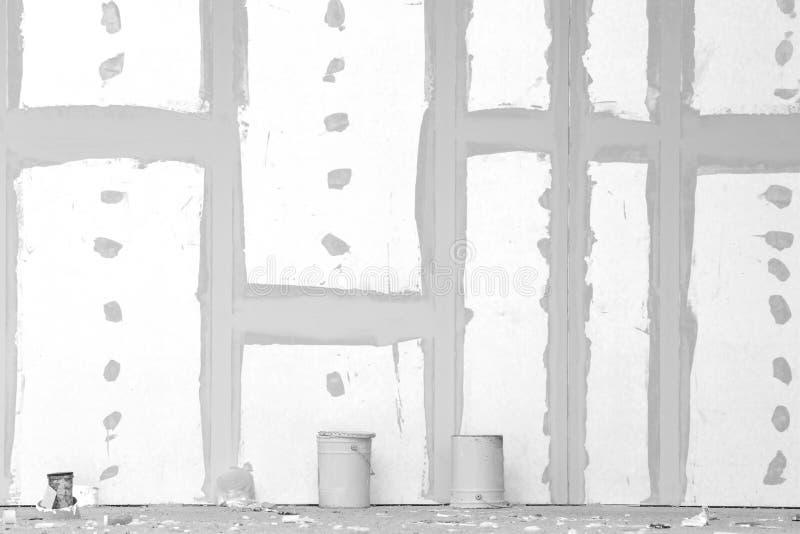 Τοίχος γύψου με τις ενώσεις στοκ φωτογραφία με δικαίωμα ελεύθερης χρήσης