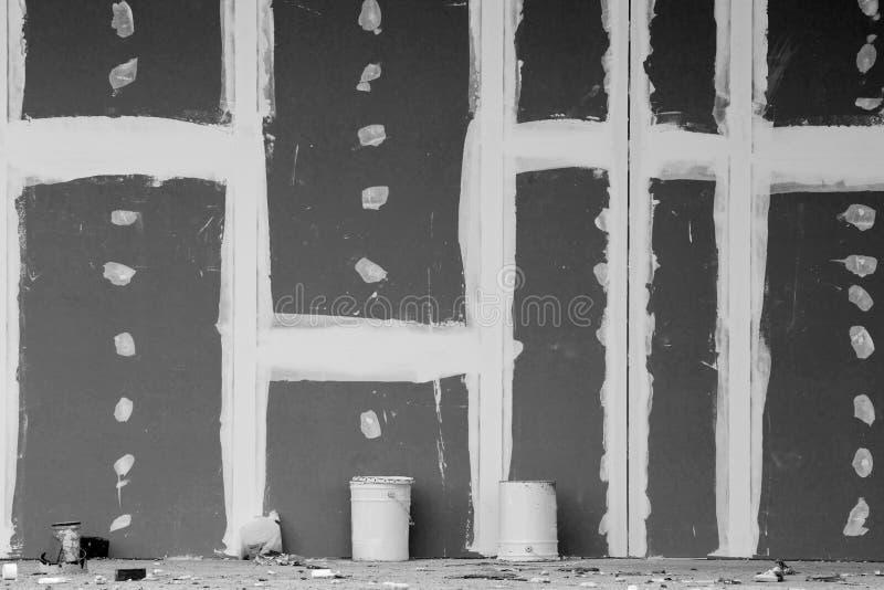 Τοίχος γύψου με τις ενώσεις στοκ εικόνες με δικαίωμα ελεύθερης χρήσης