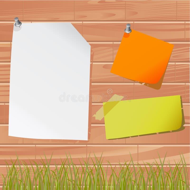 τοίχος εγγράφων σημειώσ&epsilo απεικόνιση αποθεμάτων