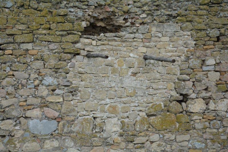 Τοίχος ενός κάστρου, enisala στοκ εικόνα