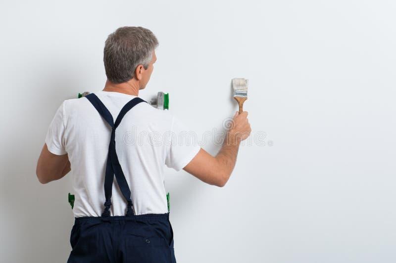 Τοίχος ζωγραφικής ζωγράφων στοκ εικόνες με δικαίωμα ελεύθερης χρήσης