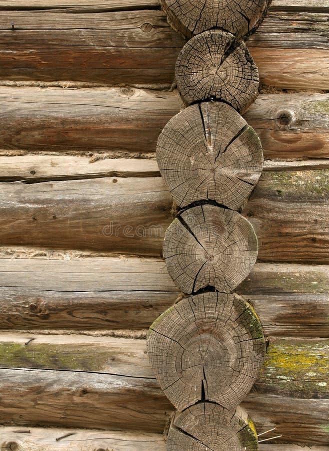 τοίχος κούτσουρων στοκ φωτογραφία με δικαίωμα ελεύθερης χρήσης