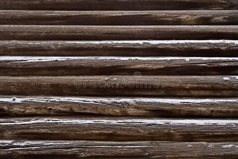 Τοίχος κούτσουρων στοκ φωτογραφία