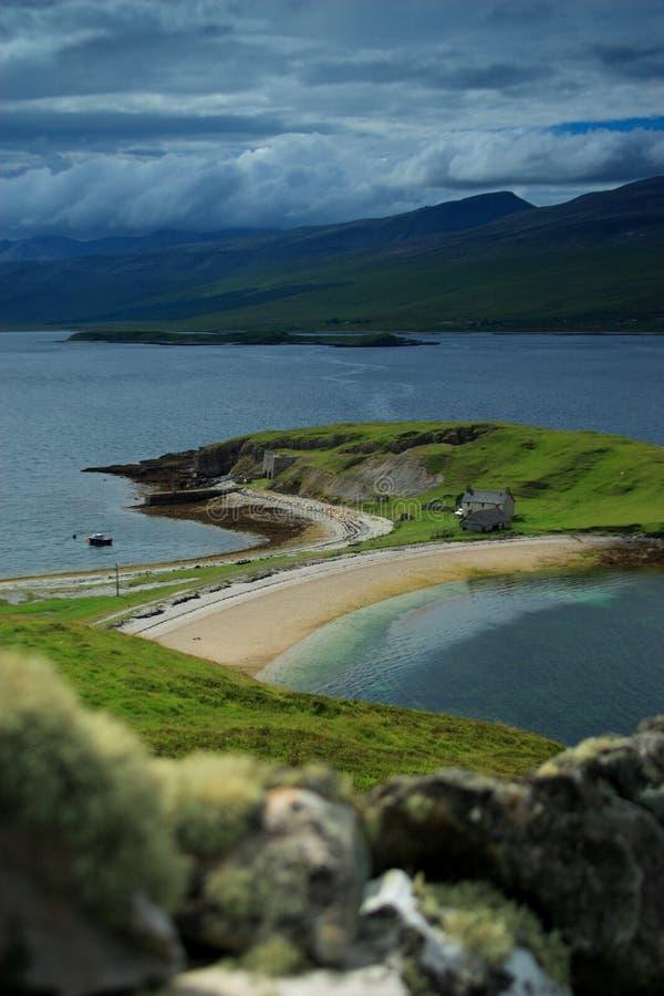 τοίχος λιμνών πρώτου πλάνου εστίασης παραλιών σκωτσέζικος έξω στοκ φωτογραφία με δικαίωμα ελεύθερης χρήσης