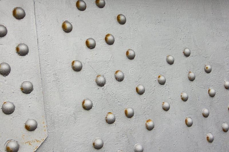 Τοίχος μετάλλων καρφιών, σύνδεσμος γεφυρών υποβάθρου techno στοκ εικόνες