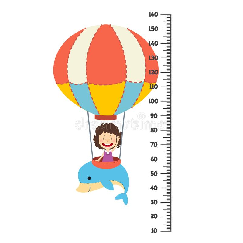 Τοίχος μετρητών με το μπαλόνι διανυσματική απεικόνιση