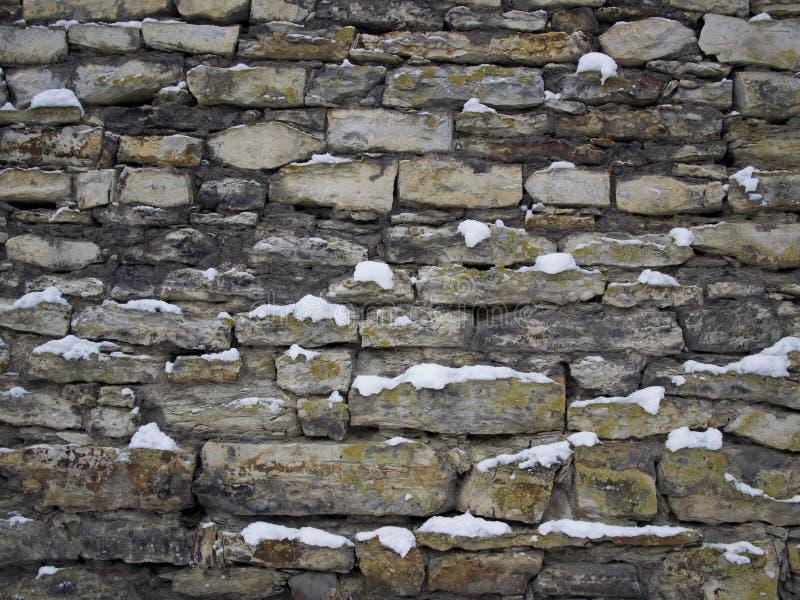 Τοίχος με τη σύσταση χιονιού, υπόβαθρο στοκ φωτογραφία