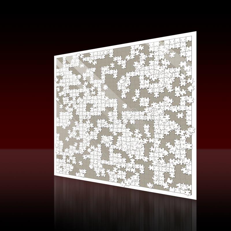 Τοίχος με τον άσπρο ανέτοιμο γρίφο διανυσματική απεικόνιση