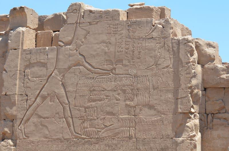 Τοίχος ναών Karnak στοκ εικόνες