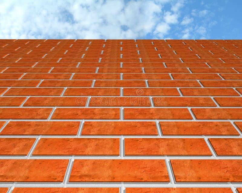 τοίχος ουρανού τούβλου διανυσματική απεικόνιση