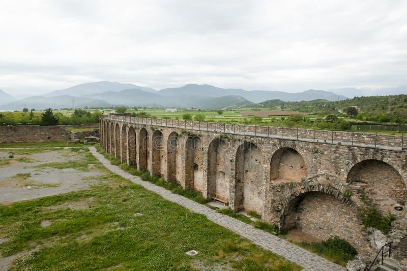 Τοίχος οχυρών - Ainsa - Ισπανία στοκ φωτογραφία