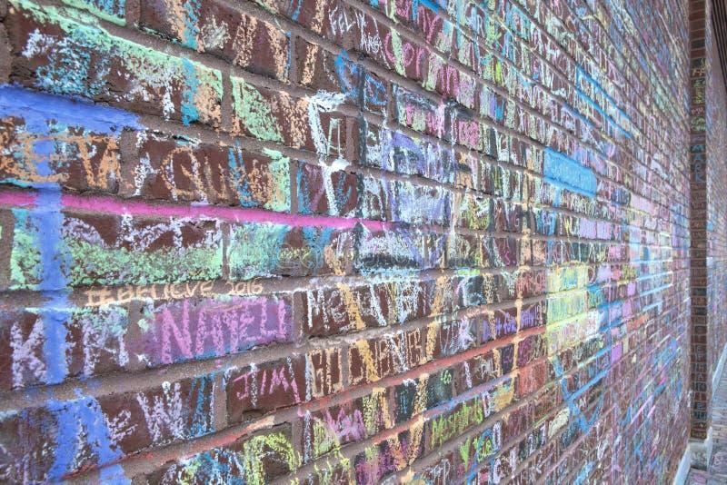Τοίχος παγκόσμιας σειράς τομέων Wrigley των φόρων στοκ εικόνες με δικαίωμα ελεύθερης χρήσης