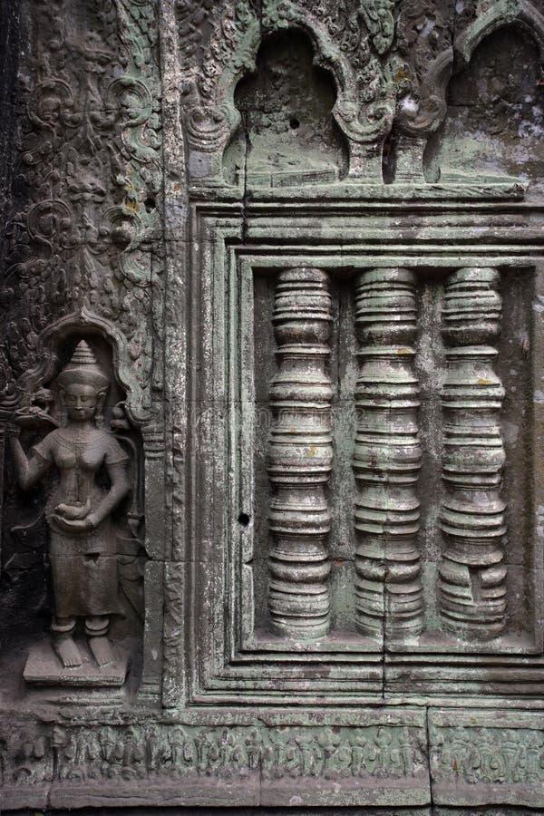 τοίχος που ξεπερνιέται καμποτζιανός στοκ φωτογραφία με δικαίωμα ελεύθερης χρήσης