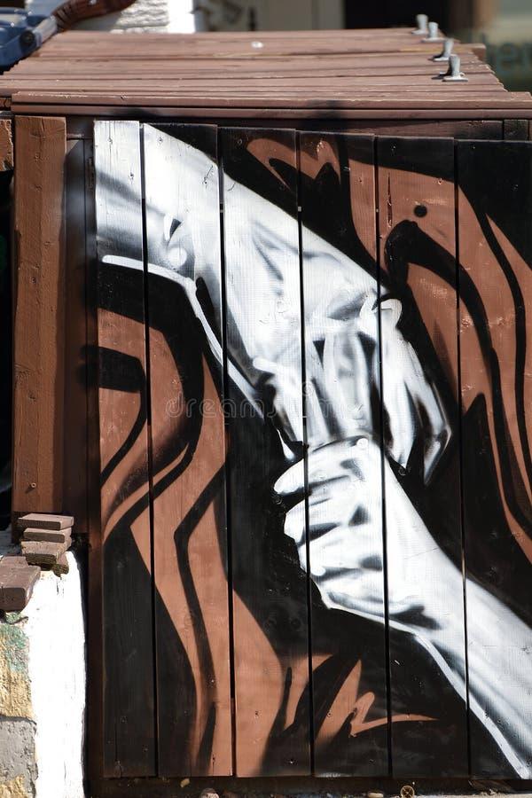 Τοίχος που χρωματίζει το spadaina του Τορόντου του 2016 στοκ φωτογραφία